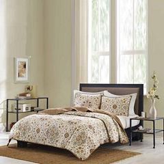 Bibb Home Printed Reversible Quilt Coverlet Set