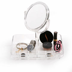 Mind Reader Acrylic Jewelry Organizer With Mirror