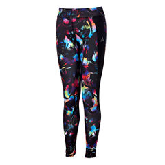 Adidas Pattern Jersey Leggings - Big Kid Girls