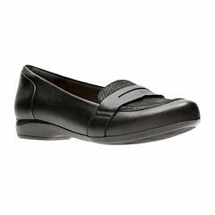 Clarks Kinzie Willow Leather Womens Slip-On Shoes
