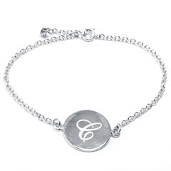 Silver Treasures Womens 7 Inch Silver Over Brass Link Bracelet