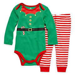 Okie Dokie 2-pc. Christmas Bodysuit Set-Baby