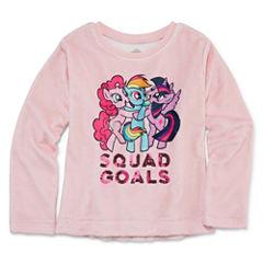 Crew Neck Long Sleeve My Little Pony Blouse - Big Kid Girls