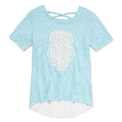 One Step Up Graphic Short Sleeve with Cross Neck Detail - Girls' 7-16