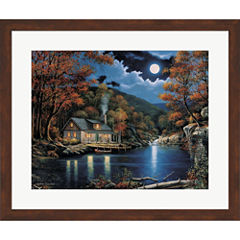 Cabin By The Lake Framed Print Wall Art