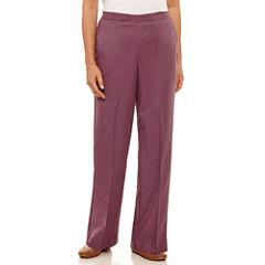 Alfred Dunner Palm Desert Woven Flat Front Pants