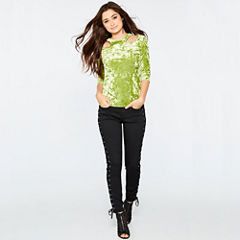 Bisou Bisou Cut Out Velvet Top