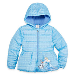 Disney Frozen Lightweight Puffer Jacket - Girls-Big Kid
