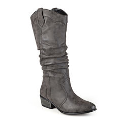 Journee Collection Drover Slouch Womens Riding Boots
