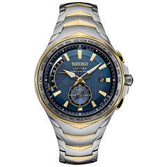 Seiko Coutura Solar Blue Dial Mens Two Tone Bracelet Watch-Ssg020