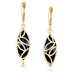 Black Onyx 10K Gold Drop Earrings