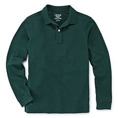IZOD® Long-Sleeve Stretch Piqué Polo - Preschool Boys 4-7