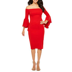 Bisou Bisou 3/4 Sleeve Sheath Dress