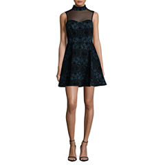 Trixxi Sleeveless Party Dress-Juniors