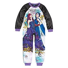 Disney Long Sleeve Descendants One Piece Pajama-Big Kid Girls