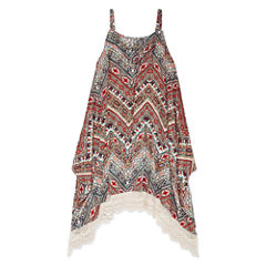 Knit Works Sleeveless Print Hanky Dress - Girls' 7-16