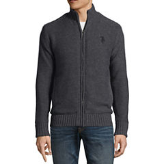 U.S. Polo Assn. Mock Neck Long Sleeve Layered Sweaters