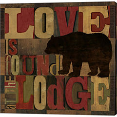 At The Lodge Printer Blocks II Gallery Wrapped Canvas Wall Art On Deep Stretch Bars