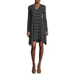 a.n.a 3/4 Slv Criss Cross Swing Dress 3/4 Sleeve Swing Dresses