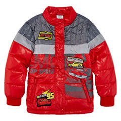 Disney Cars Midweight Puffer Jacket - Boys-Big Kid
