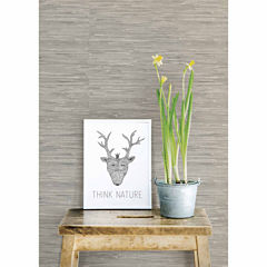 NuWallpaper Grasscloth Peel And Stick Wallpaper