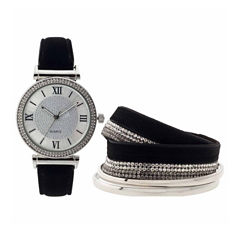 Mixit Womens Black Strap Watch-Jcp2996sts