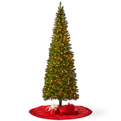 North Pole Trading Co. 7 Foot Laramie Slim Pre-Lit Christmas Tree