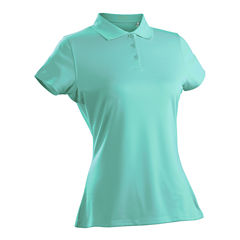 Luster Short Sleeve Plus Short Sleeve Knit Polo Shirt Plus