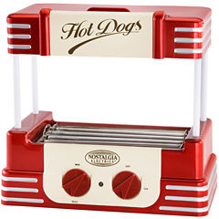 Nostalgia RHD800 Retro Series Hot Dog Roller withBun Warmer