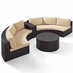Crosley Catalina Wicker 4-pc. Patio Lounge Set