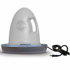 K & H Manufacturing Thermo-Poultry Waterer 2.5 Gallon Heated 60 Watts Gray