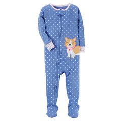 Carter's Long Sleeve One Piece Pajama-Baby Girls