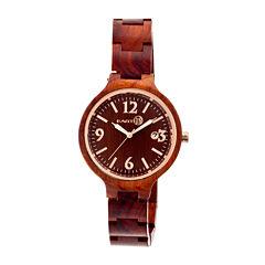 Earth Wood Nodal Red Bracelet Watch with Date ETHEW2003