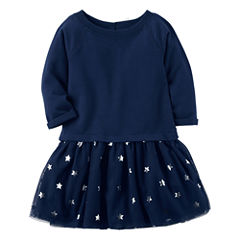 Carter's Long Sleeve Star A-Line Dress - Preschool Girls