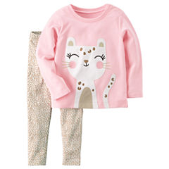 Carter's 2-pc. Cheetah Pant Set Girls