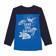 Long Sleeve Star Wars Logo Sweatshirt - Preschool Boys