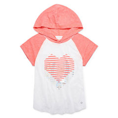 Xersion Short Sleeve Graphic Hoodie T-Shirt - Girls' 7-16 and Plus