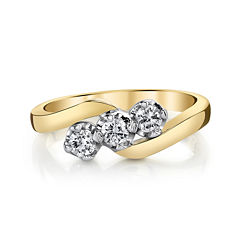 Sirena® 1/3 CT. T.W. Diamond 14K Two-Tone Gold 3-Stone Ring