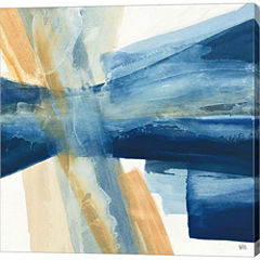 Indigo II Gallery Wrapped Canvas Wall Art On DeepStretch Bars