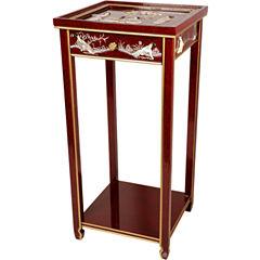 Oriental Furniture Mother Of Pearl Ladies Oriental Chairside Table