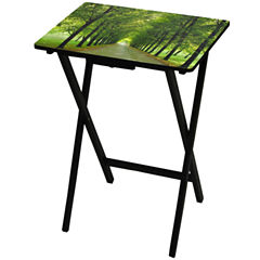 Oriental Furniture Path Of Life TV Tray Table