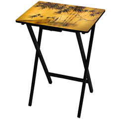 Oriental Furniture Bamboo Tree TV Tray Table