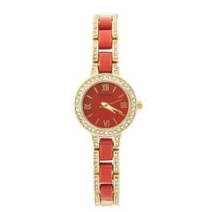 Geneva Womens Gold Tone Bracelet Watch-Jcp2959