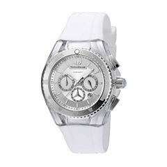 Techno Marine Womens White Strap Watch-Tm-115171