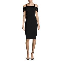 Nicole By Nicole Miller Short Sleeve Sheath Dress