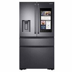 Samsung ENERGY STAR® 22.2 cu. ft. Counter-Depth Family Hub™ 4-Door French-Door Refrigerator with Polygon Handles