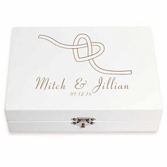 Cathy's Concepts Personalized Tie the Knot Ring Bearer Pillow Keepsake Box