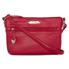 Perlina Nappa Mid-Size Leather Crossbody Bag