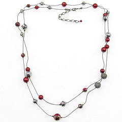 Vieste Rosa Womens Brass Illusion Necklace