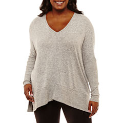 Arizona Soft Oversized Tunic T-Shirt-Juniors Plus